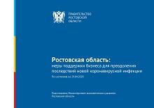 Ростовская область:меры поддержки бизнеса для преодоления последствий новой коронавирусной инфекции По состоянию на 29.04.2020